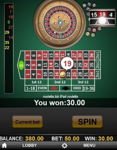 roulette spelen iPad