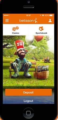 Online spelen met Betsson app